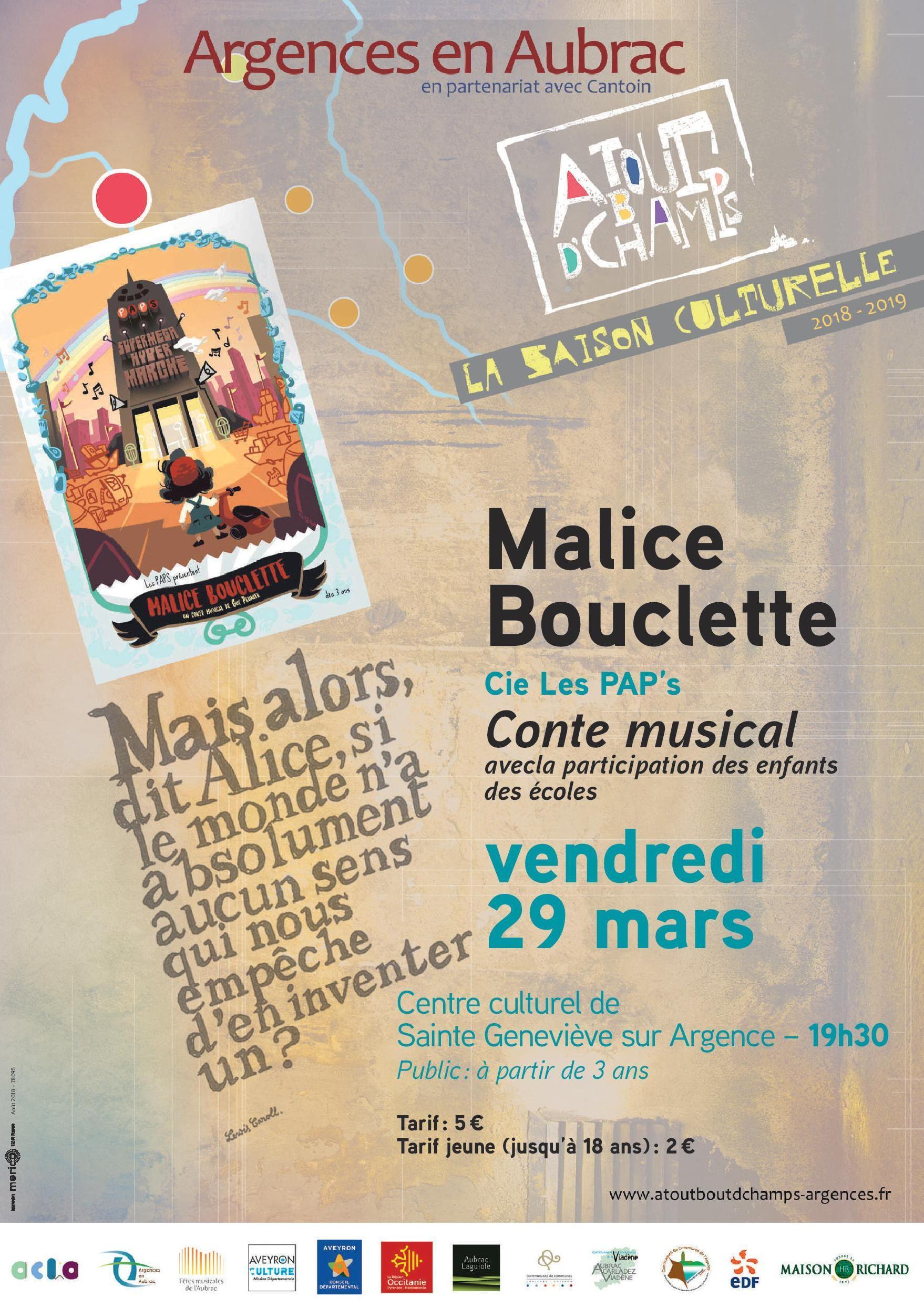 """Conte musical """"Malice Bouclette"""""""