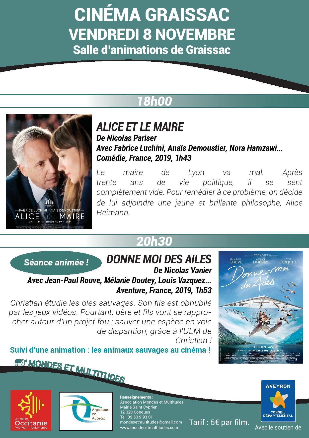 """Séance de cinéma """"Alice et le Maire"""""""