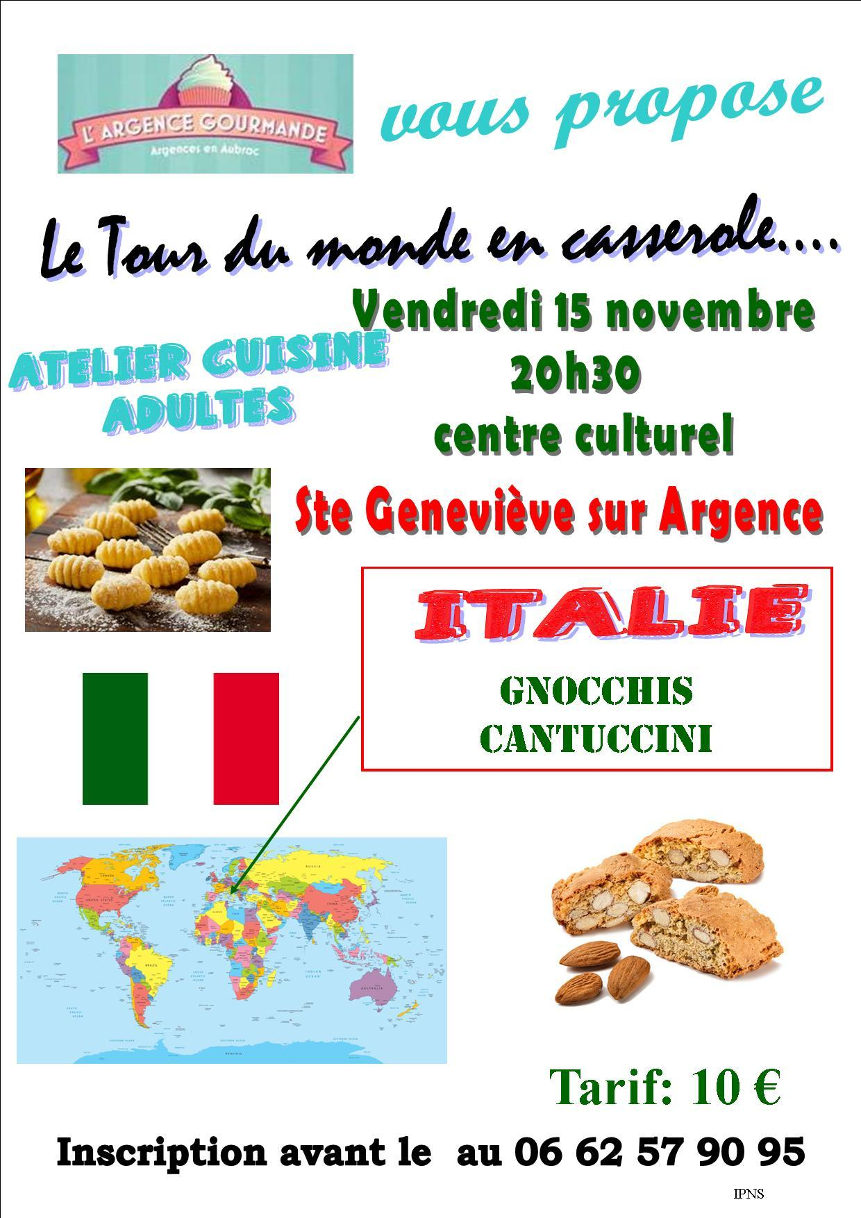"Atelier cuisine spécial ""Italie"""